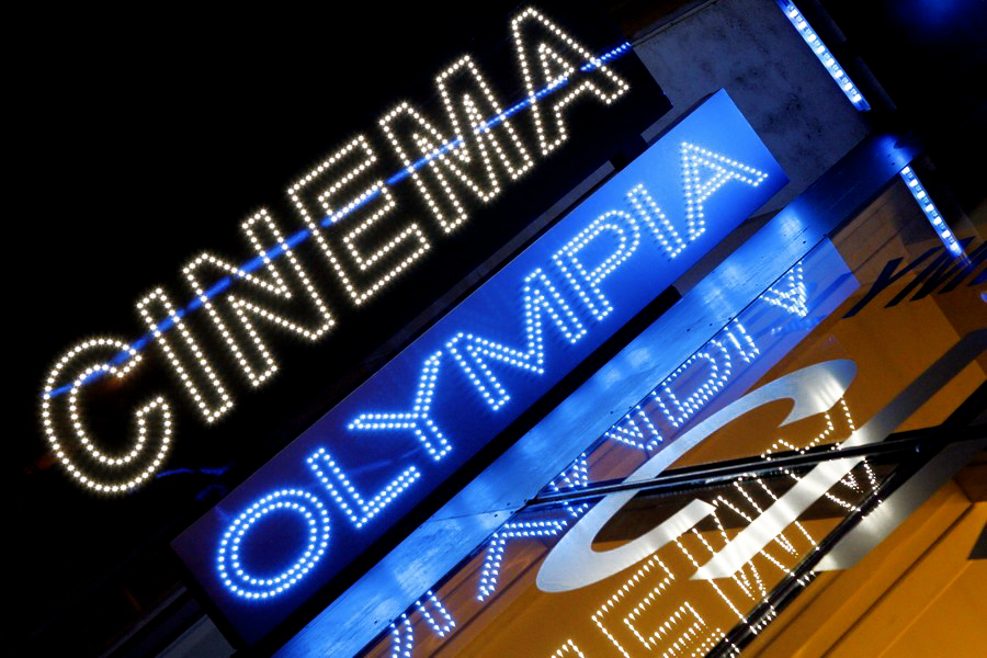 Enseigne à led - cinéma l'olympia Dijon - Sodifalux