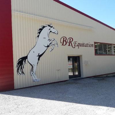 Enseigne BR équitation - Sodifalux - instagram