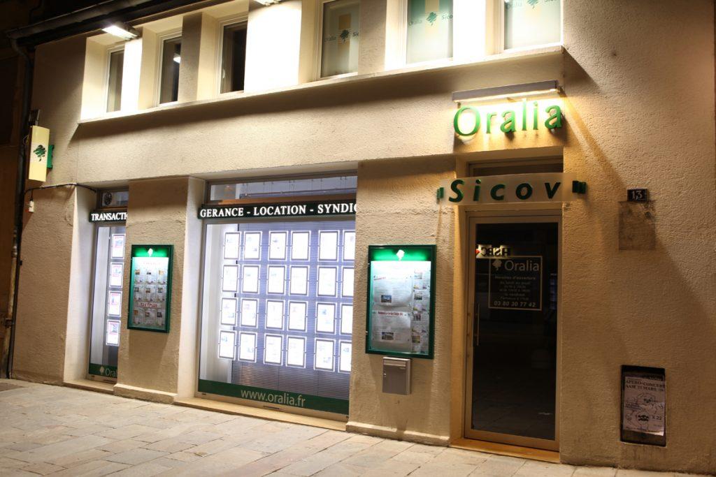 Portes affiches lumineux à led - Oralia Dijon - Sodifalux