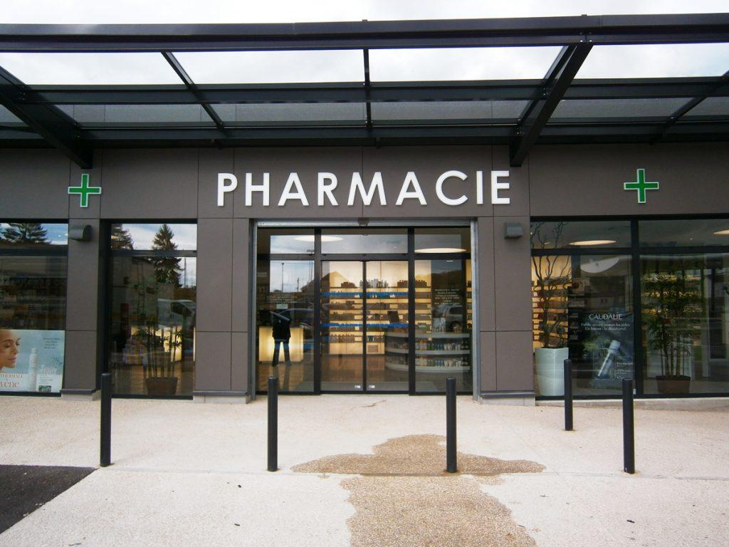 Enseigne de pharmacie Dijon- leds éclairage externe - Sodifalux