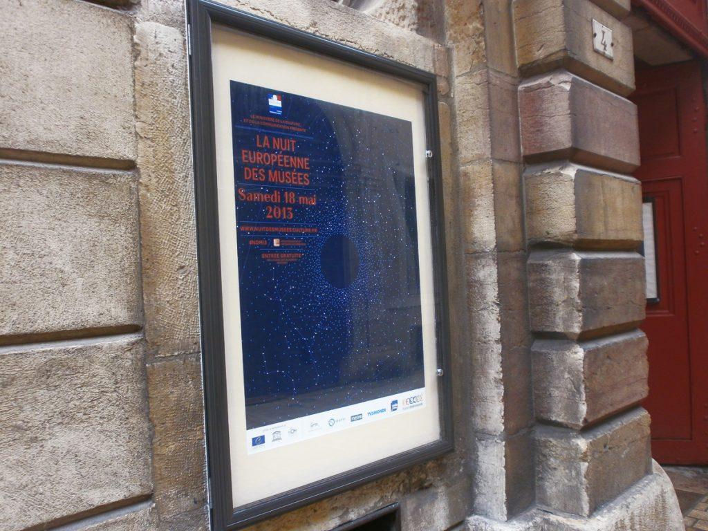 Vitrine d'affiche lumineuse - Musée Magnin Dijon - Sodifalux